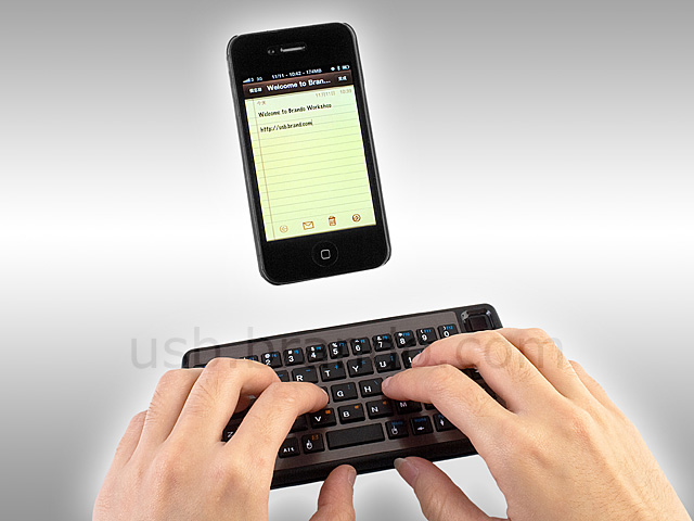 Dual-Connect Slim Bluetooth Keyboard with Mouse Track