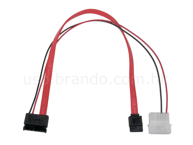 Slimline SATA with 12V Power 2-in-1 Cable