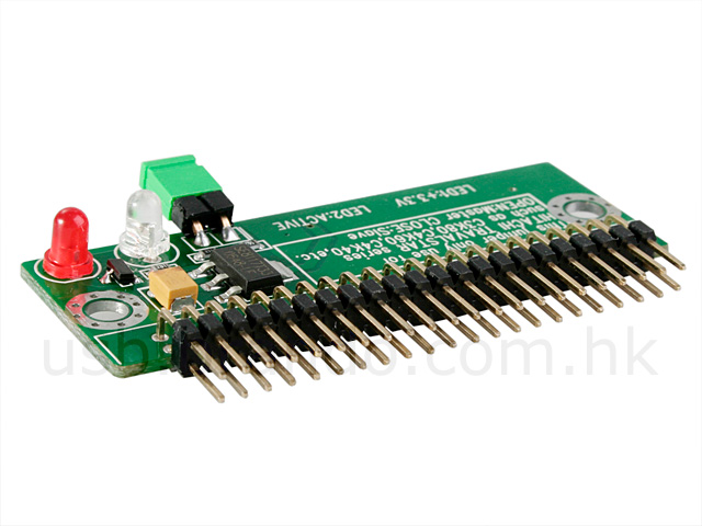 Zif Male To 44 Pin Male Ide Adapter