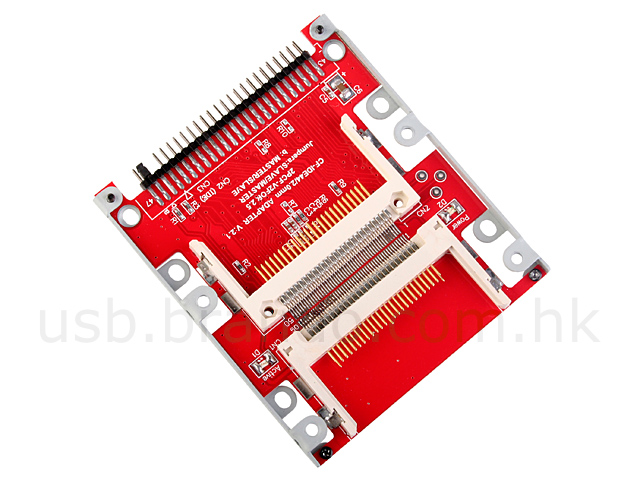 "Dual CF to 2.5"" IDE (44 Pin) HDD Adapter"