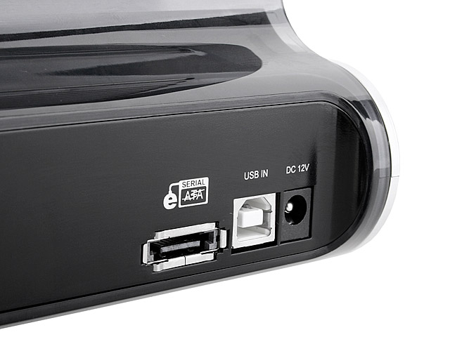 Dual SATA HDD Multi-Function Dock with One Touch Backup (USB + eSATA)