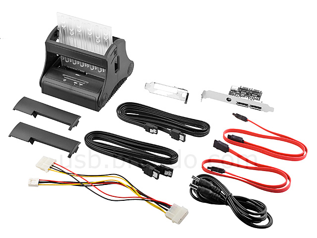 SATA Dual HDD Docking Station with Power + eSATA Extension Kit