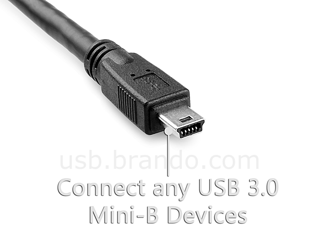 Dual Power USB 3.0 A Male to USB 3.0 Mini-B Male Cable