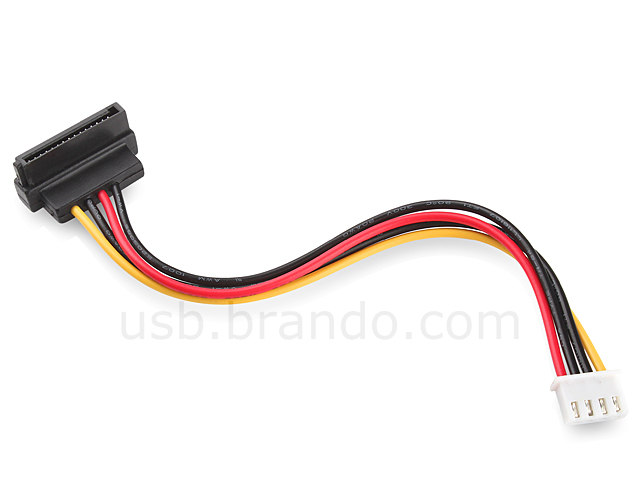 4 Pin Mini Plug To SATA Power Cable 90
