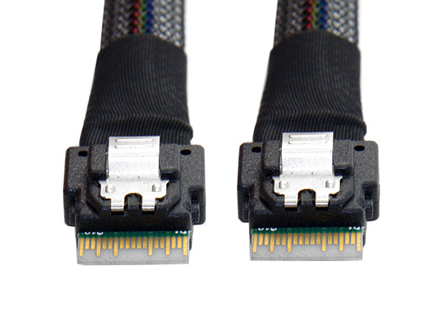 Slim SAS 4.0 SFF-8654 4i 38pin Host to SFF-8654 38pin Target Raid Cable