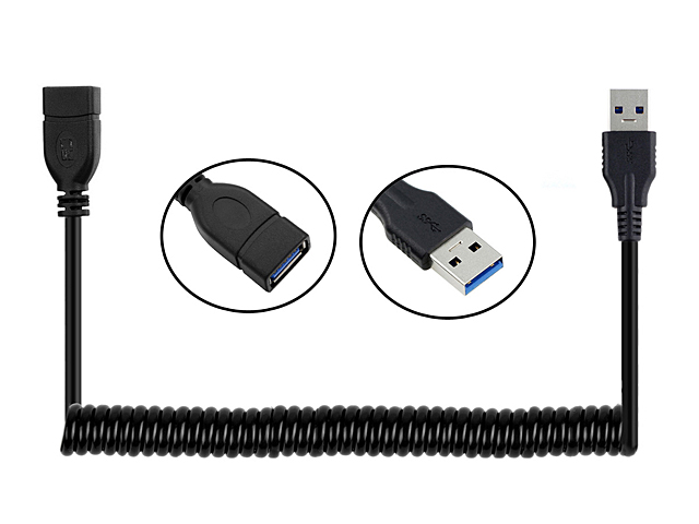 USB 3.0 Extension Curled Cable