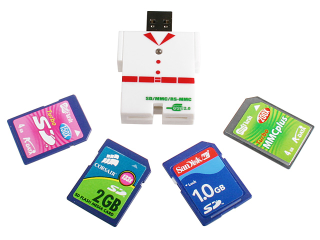 8 in 1 Mini Card Reader (Clothes in Shape)