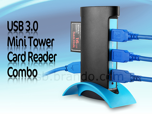 Usb 3 0 Mini Tower Card Reader Combo