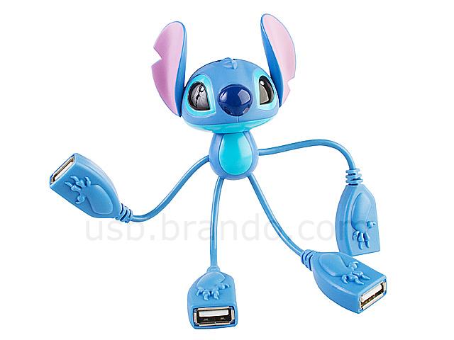 Disney Stitch Usb 4 Port Hub Cable