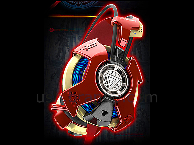 E Blue Marvel Iron Man 3 Edition Gaming Headset