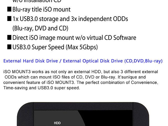 Skydigital iSO Mount3 Virtual Drive USB 3 0 2 5