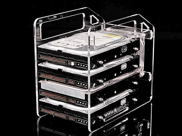 DIY Hanging Hard Drive Cage with Cooling Fan (4 Bays)