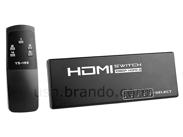 5 in 1 out HDMI Switch