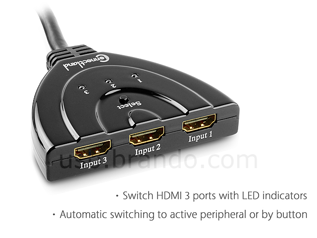 Connectland 3-Ports HDMI Switch(3D Support)
