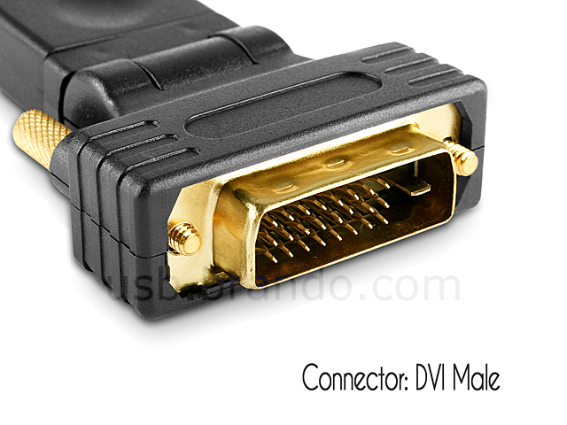 360° x 180° HDMI Female to DVI Male Adapter