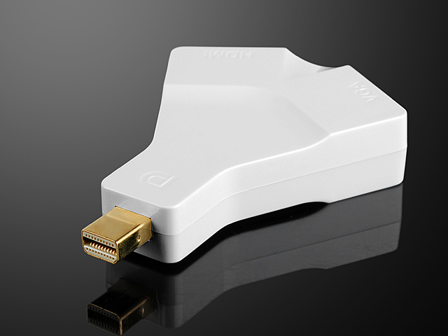 Mini DisplayPort 1.2 to HDMI + VGA Converter