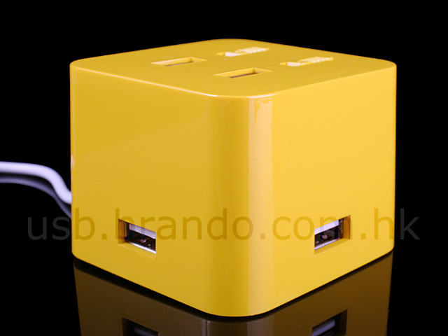 USB Cube Hub with On/Off Switches