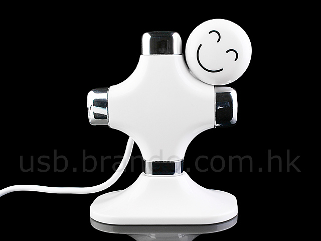 USB Happy-Kid 4-Port Hub + Memo Clip
