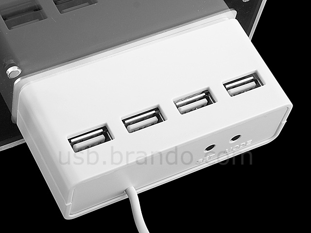 USB 4-Port Hub with Photo Frame and Clock