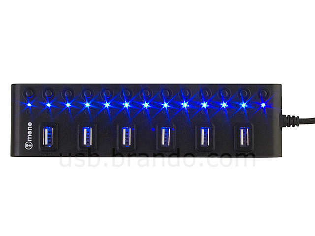 iMONO 13-Port USB Hub Bar with On/Off Switches