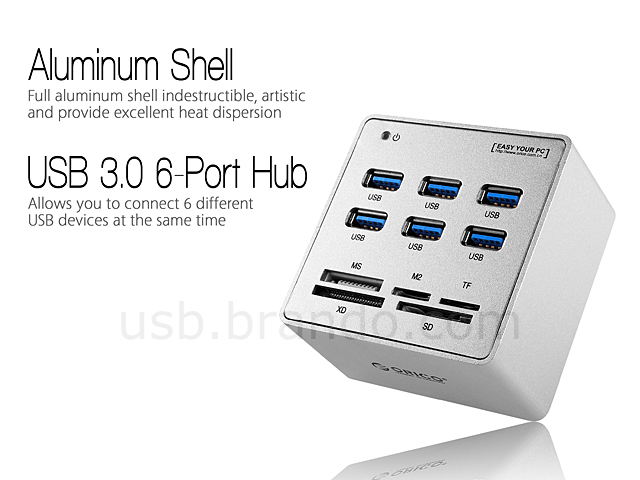 Orico Usb 3 0 6 Port Hub Combo