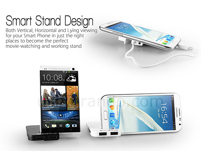 OTG 3 Port Hub with Smartphone Stand