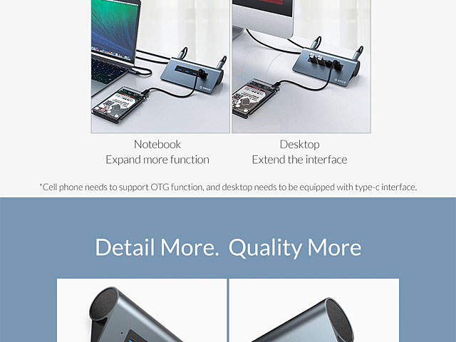 Type-C Multi-Function Aluminum Alloy Docking Station