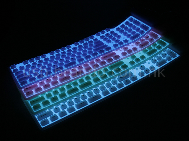 Keyboard glow in the dark stickers