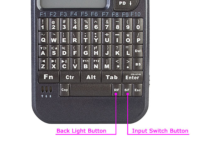 USB Wireless Handheld Keyboard and Touchpad with Laser Pointer