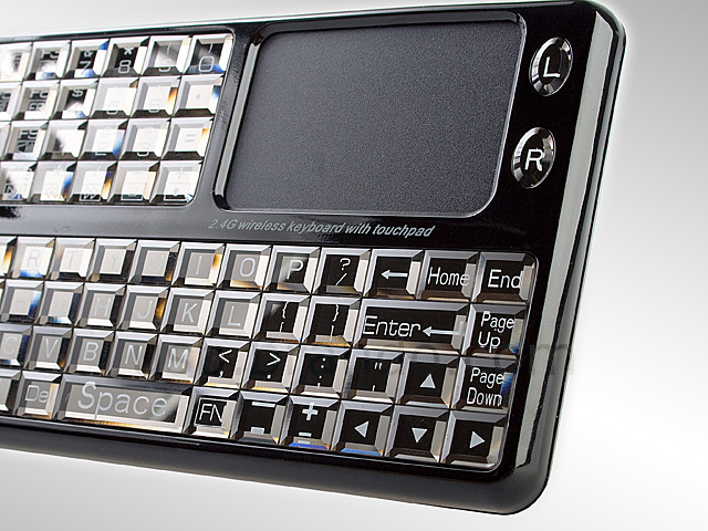 USB 2.4GHz Multimedia Keyboard with Touchpad