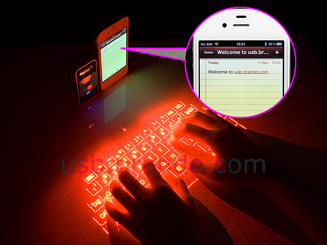 Magic Cube Projection Keyboard And Multi Touch Mouse