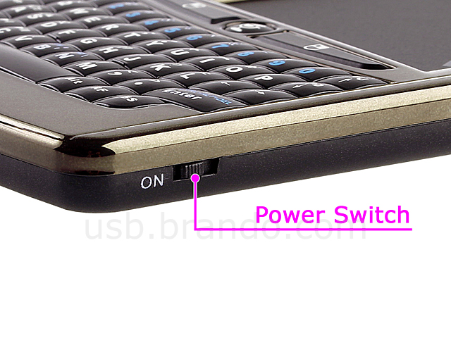 2.4GHz Wireless Handheld Multi-Touchpad Keyboard with Microphone and Speaker