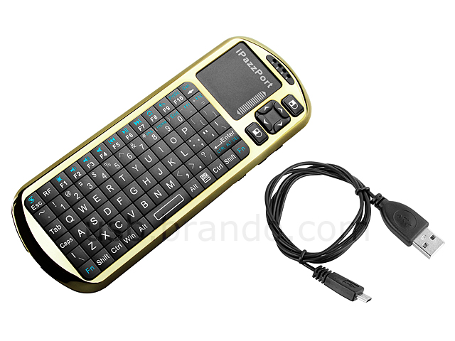 iPazzPort 2.4GHz Wireless Handheld Keyboard with IR Remote