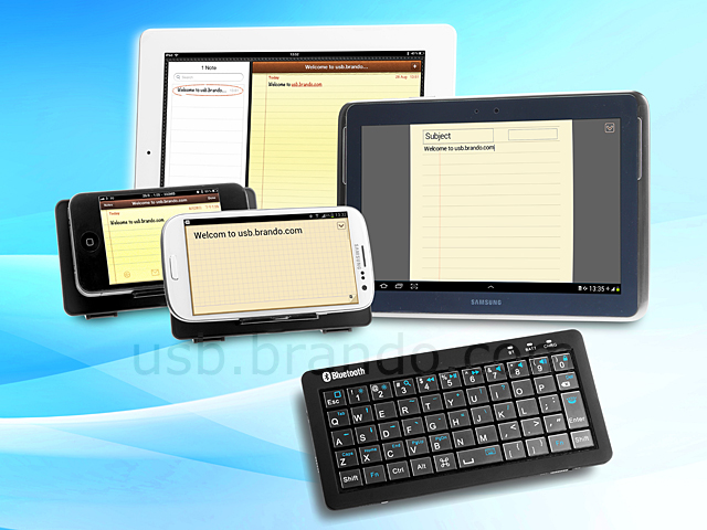 3-in-1 Dual-Connect Slim Bluetooth Keyboard