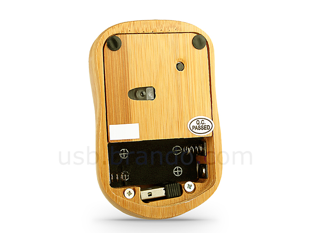 USB Full Bamboo Mini Wireless Keyboard with Mouse
