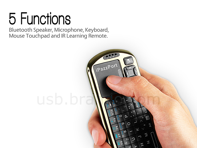iPazzPort Voice Bluetooth Handheld Keyboard with IR Remote
