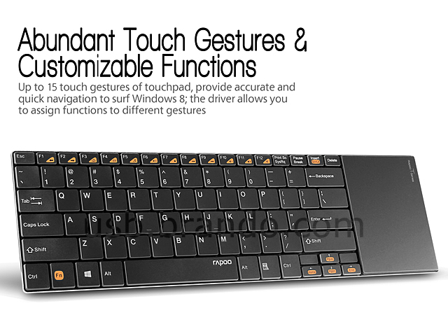 Rapoo E9180P Wireless Touchpad Keyboard