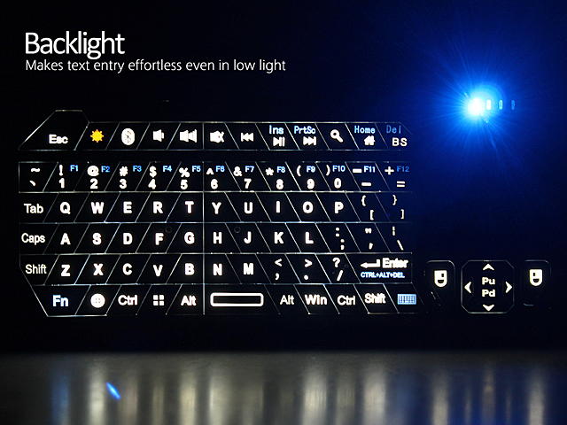 Bluetooth Keyboard with Touchpad (IS11-BT05)
