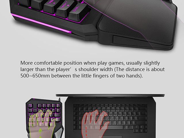 Delux T9 Pro Single Hand Professional Gaming Keyboard