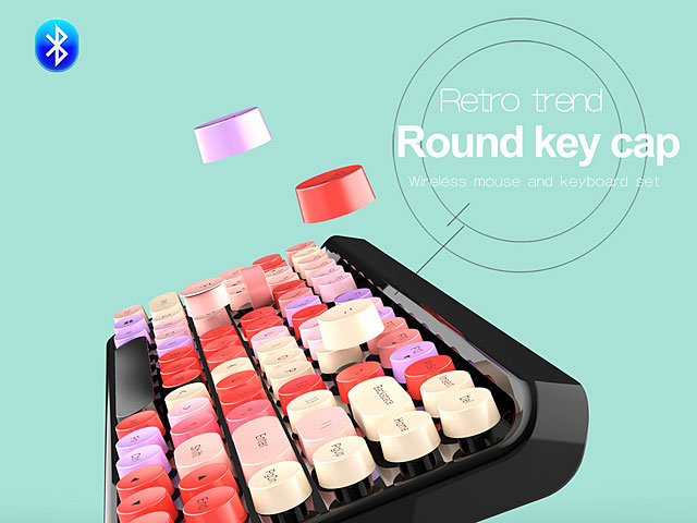 Retro Trend Bluetooth Round Keyboard