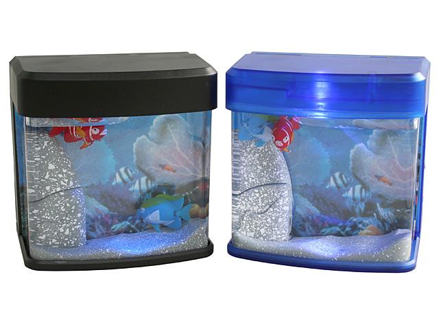 Usb mini aquarium with blue led for Mini aquarium