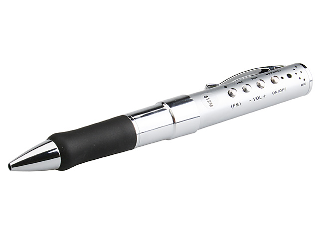 USB MP3 Pen + FM Radio + Voice Recorder
