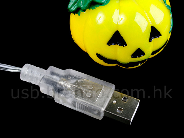 Fiber Optic Halloween Pumpkin Decorations