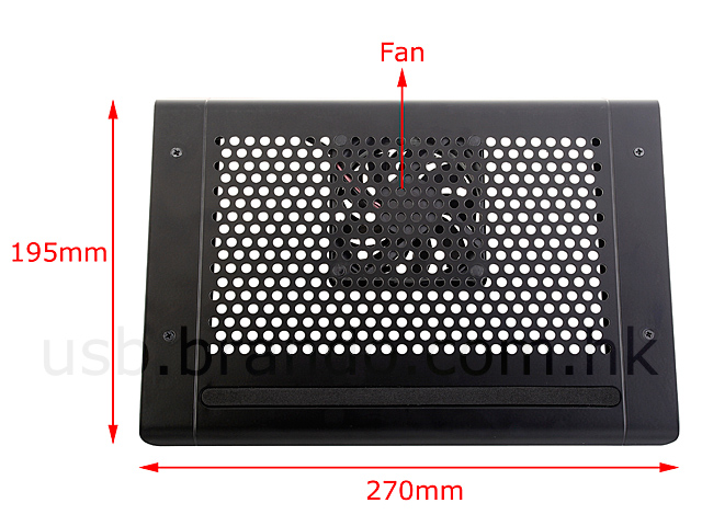 USB Aluminum Notebook Cooling Pad