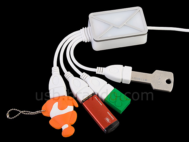 USB Webmail Notifier + 4-Port Hub Cable