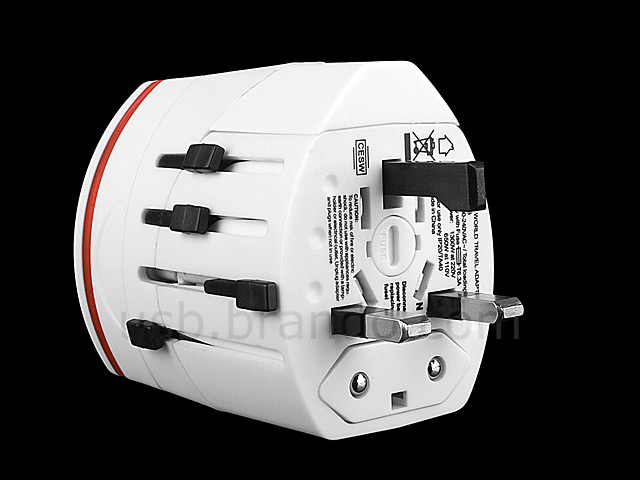 2-In-1 Universal Travel Adapter with Dual USB AC Charger