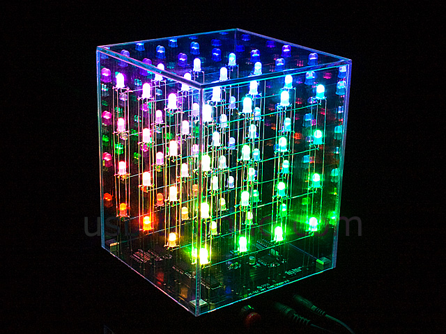 4x4x4 multi color led cube. Black Bedroom Furniture Sets. Home Design Ideas