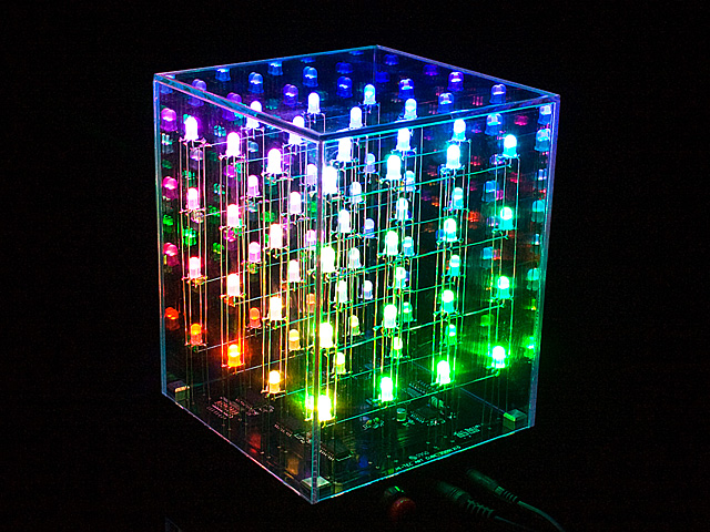 4x4x4 Multi Color Led Cube