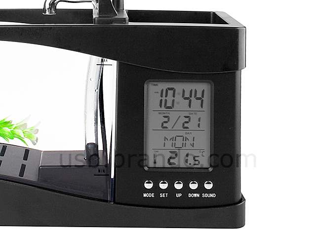 ULIFE041100 03 L USB Aquarium and Alarm Clock