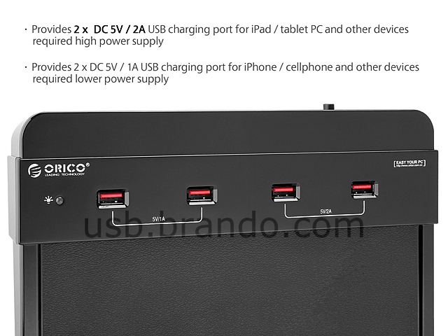 4-Port USB DC Charging Station